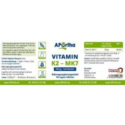 VITAMIN K2 200 µg (MK-7 natürliches Menaquinon)