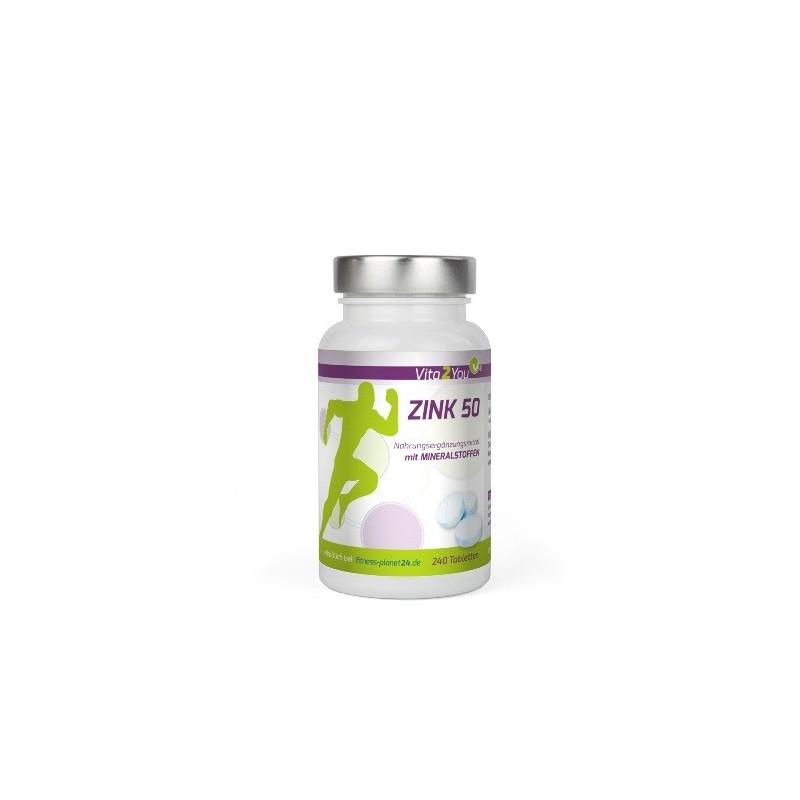 Zink 50 - Zinkgluconat - 111 vegane Tabletten
