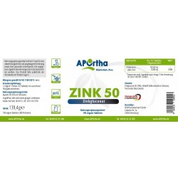 Цинк 50 - глюконат цинка - 300 веганских таблеток